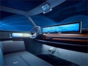 Konceptbilens långsmala skärm – störst på marknaden?
