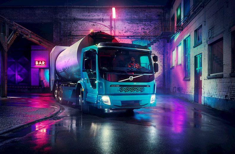 Volvo FE Electric ska städa upp på Reeperbahn.