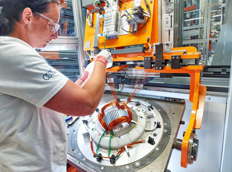 Audi Hungaria starts series production of electric motors