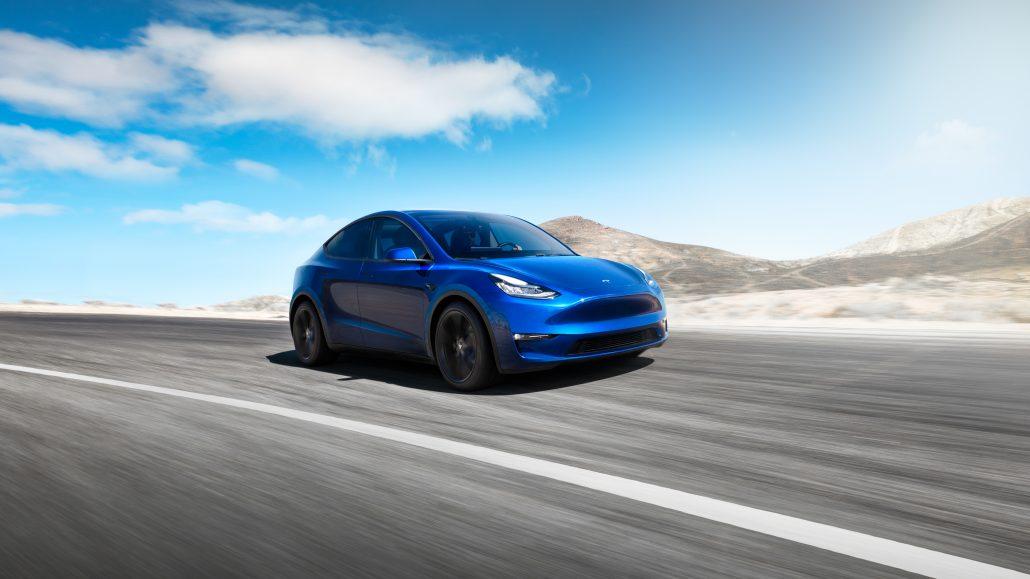 Model Y Front 34 Blue