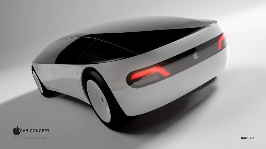 En av många idéer om hur en bil från Apple skulle kunna se ut.Den här designen från by Aristomenis Tsirbas vann Freelancer's Apple Car Concept contest 2015. Foto: Freelancer.com